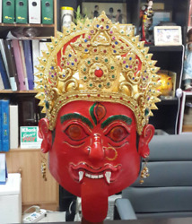 Red Ghosts scary  devil Mask Thai Handmade Ceremony Costume New
