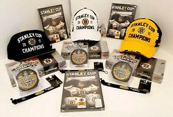 Boston Bruins 2011 Stanley Cup Champions Hat Cap Card New Dvd Puck Christmas Lot