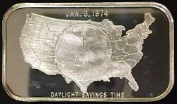 Crs-1 Daylight Savings Time 999 Silver 1 Troy Oz Art Bar Tennessee Collectible
