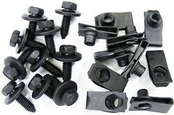 Ford Body Bolts And U-nut Clips- 5/16 X 1- 27/32 Center To Edge- 20 Pcs- 373