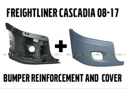 Freightliner Cascadia Bumper Right Side Reinforcement And Cover With Fog Hole