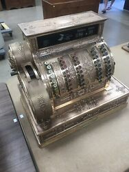 Late 1800and039s Model 92 Antique Brass National Cash Register