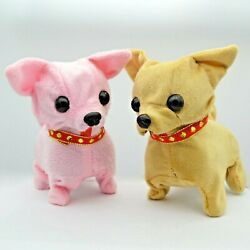 120 pcs Battery Operated Walking Chihuahua Puppy Dog for Kids Gift Wholesale
