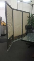Haworth Brand Office Partition System, Glass Wall Panels