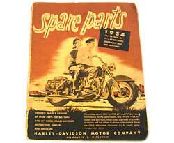 Factory Spare Parts Catalog Book For Harley 1941 - 1954 Big Twins And 45 230 P