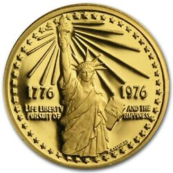Rare 1976 U.s. Mint American Revolution Bicentennial We The People Gold Medal /