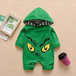 US Infant Baby Girl Boy Hooded Romper Jumpsuit Autumn Winter Outfit Clothes Tops