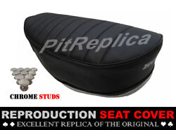 Honda St50 St70 Heat Pressed Saddle Seat Cover + Button [hcol]