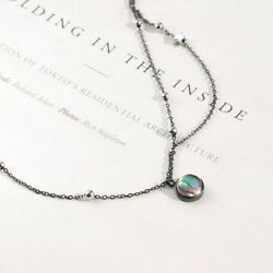 Women's Pendant Star Planet Space Milky Way S925 Silver Galaxy Crystal Necklace
