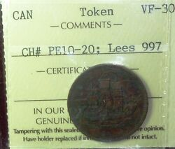Very Scarce 1829 Canada Pe-10-20 Edward Island Token - Take A Look