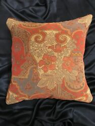 Vintage Wool Plaid And Tapestry Throw Pillow Cover Only 17 X 17