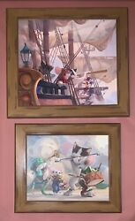 2 Leonard Filgate, Rip Squeak Giclee On Canvas The Adventure And Toy Room Band