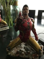 Cm Studios New Ironman Tony Stark After Battle Resin Statue With Lightexclusive