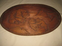 Three Bears Wood Carving Oval Wall Plaque Hand Carved Paul Graham 1977 Bearcamp