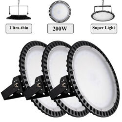 3X 200W Ultra-Thin UFO LED High Bay Light  Warehouse Factory Super Lamp