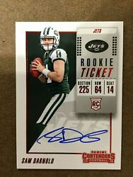 2018 Contenders Rookie Ticket Red Zone Sam Darnold Rc Auto Sp Fotl