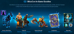 BLIZZCON 2014 Virtual Goodies TICKET - GROMMLOC PET Hearthstone Diablo RARE CODE