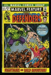 Marvel Feature 2 Vf- 7.5 Comics 2nd Defenders