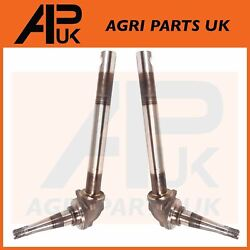 Pair Of Kingpin Steering Spindles For Ford 2000 2600 3000 3600 4100 Tractor
