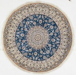 Elegant Hand Knotted Silk And Wool Fine New Round Rug 2'7x 2'7