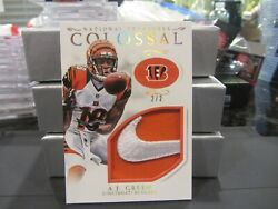 National Treasures Colossal Game Used Nike Swoosh Bengals A.j. Green 2/2 2016