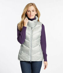 LL Bean Warm and Light Down Puffer Vest Graystone Women's Small