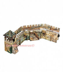 Building THE FORTRESS WALL Medieval Town Terrain Scenery 3D Cardboard Model Kit
