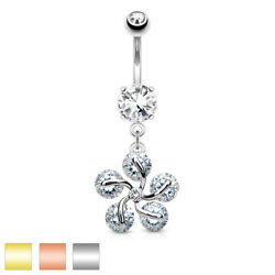 Navel Piercing Banana Bell Stainless Steel Surgical Steel Pendant Bloom With