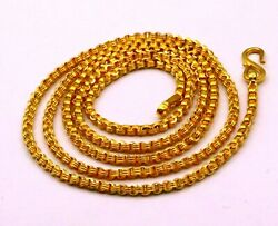 Fabulous Solid Rolo Link Chain 22kt Yellow Gold Vintage Antique Necklace Ch216