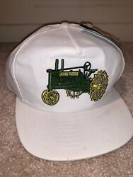 Vintage John Deere Patch Trucker Hat Snapback Tractor Model B New With Tags