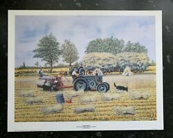 Loaded Wagons Field Marshall Tractors And Ransome Binder Ray Hutchins Art Print