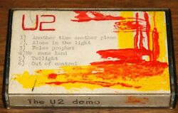 U2 EXTREMELY RARE MARCH 1979 DEMO CASSETTE TAPE WITH BONO ADDRESS AND ARTWORK