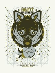 The Avett Brothers 8/9/2019 Poster Sandpoint Idaho Signed A/p Artist Proof