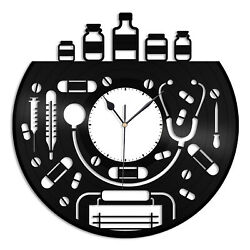Doctor Vinyl Wall Clock Record Unique Gift for Friends Home Room Decoration