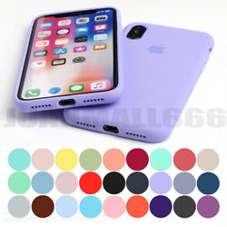 FULL BODY PROTECT ORIGINAL SILICONE CASE FOR IPHONE 7 8 6S PLUS XR XS MAX COVER
