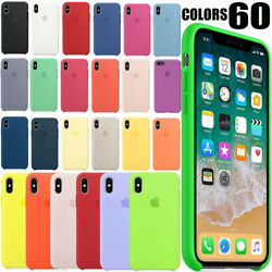 OEM Original Silicone Case Cover For Apple iPhone 7 8 6S 6 Plus 5 5S SE New Colo