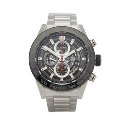 TAG HEUER CARRERA CALIBRE 1 STAINLESS STEEL WATCH CAR2A1W-0 W6486
