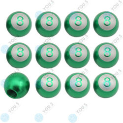 16 Piece You.s Valve Caps Billiard Ball 8 Green For Car Truck Motorcycle Bike