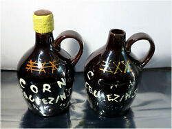2 X Vintage Pint Size Whiskey Jugs, Corn Squeezin's, Aged In The Woods, Xxx