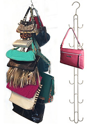 2-Pack Hanging Purse Storage-Purse Stax™ Purse Organizer-Holds 50 lbs 12 hooks