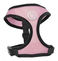 Gooby Soft Breathable Mesh Dog Harness for Small Pets Large Medium Pink