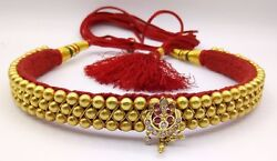 Vintage Antique 22k Gold Beads Necklace Choker Rajasthan Wedding Tribal Jewelry