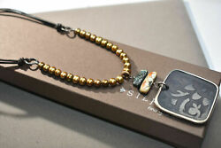 Silpada Bronze Pearl Pen Shell Leather Necklace N1803 Retired