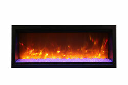 Amantii Symmetry Sym-50-xt Modern 50andprime Extra Tall Built-in Electric Fireplace
