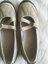 Privo By Clarks Acacia Womens Mary Jane Flats Gray Mesh Slip On Shoes Size 7.5 M