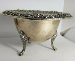 Sterling S Kirk And Son 207 Footed Repousse Mayonaise Bowl 3h X 5 W 164.6 Grams