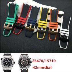 2824mm Two Tone Rubber Silicone Watchband Strap Fit For Audemars And Piguet Ap