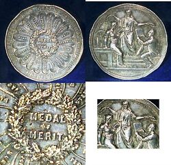 1865 Medal Of Merit Ukgreat Britain Inaugurated By Bishop Of Winchester Silver