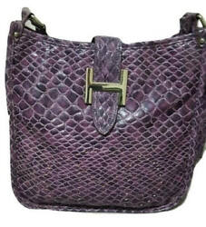 Black Friday sale Hermes Crocodile Bag Purple Design - gift chrismas