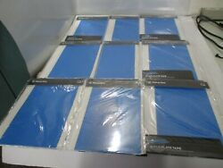 Lot Of 9 Makerbot Build Plate Tape Replicator 2 10 Sheets 7.25 X 11.75 Blue